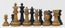 "BCC Improved Royal Chessmen UK 1901/1902 Reproduction 4"" Antique Ebony Chessmen"