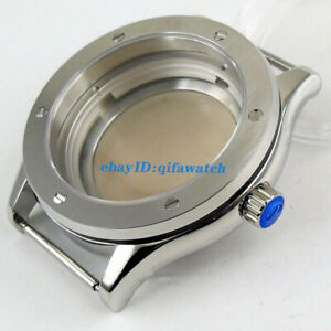 42mm PARNIS 316L steel sapphire glass brushed Watch Case fit NH35 NH36 movement
