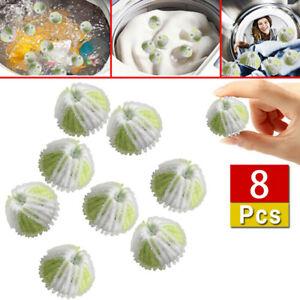 8PCS Reusable Wool Dryer Balls Natural Laundry Softener Fabric Laundry Balls CH