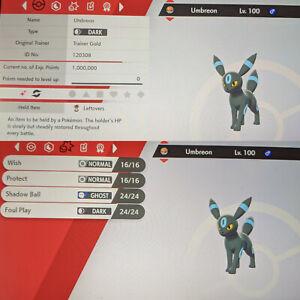 Shiny Umbreon 6IV Max EVs Competitive Pokemon Sword Shield Calm Leftovers