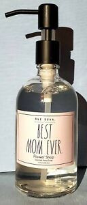 "Brand New ""Rae Dunn BEST MOM EVER Flower Shop Scented Hand Soap"" 12 Fl. Oz."
