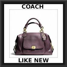 COACH Campbell Plum Purple Turnlock Leather Purse Satchel handbag F25508 bag