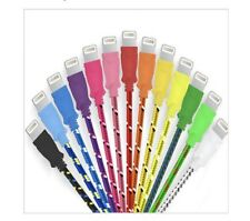 Wholesale Lot of 10 Braided Lightning iPhone 5 6 7 USB Cables with UPC Code
