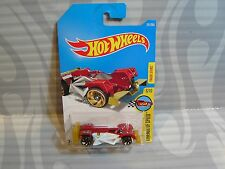 2017 HOT WHEELS ''LEGENDS OF SPEED'' #241 = FLASH DRIVE = RED & WHITE .. int
