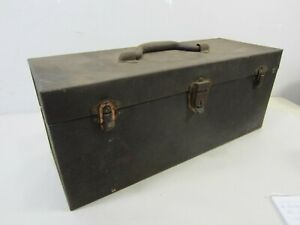 Vintage Kennedy Kits Tackle Box- Embossed Label 17""