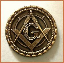 "High Quality Round Masonic 1"" Antique Style Freemason Lapel Pin tie tack hat"