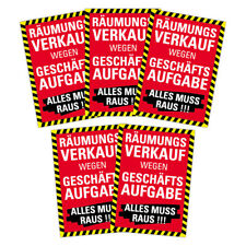"SPARPACK Plakat ""Räumungsverkauf wegen Geschäftsaufgabe"" DIN A1 AUSVERKAUF SALE"
