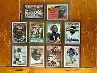 Walter Payton (10) Card Lot 1982 1983 1984 1985 1986 1988 Topps 1993 1994 Bears