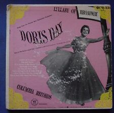 """Doris Day Lullaby Of Broadway 2x 7"""" Gatefold Cover EP US Pressing Columbia Good"""