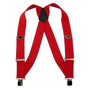 New Welch Men's Elastic Clip-End Trucker Suspenders