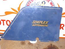 SIMPLEX AUTOMATIC, BLUE, WHITE, RED, LEFT & RIGHT SIDE/FRAME/ENGINE COVER SET.#