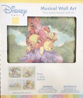 🆕 Disney Baby Winnie the Pooh Musical Wall Art Nursery Press & Play Set Of 4