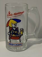 Vintage Spuds MacKenzie Party Animal Bud Light Glass Beer Mug 1987 Budweiser