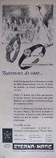 PUBLICITÉ PRESSE 1956 MONTRES ETERNA MATIC AUTOMATIQUE POUR FEMME  - ADVERTISING
