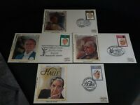 "Great Britain 1980 Famous Conductors  ""Silk"" First Day Cover set mint rare"