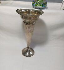Antique Silver Plated Trumpet Vase MADE IN AUSTRALIA EPNS B.B Mark H20cm