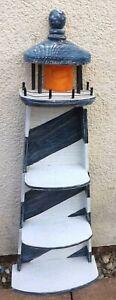 Vintage lighthouse shaped shelving unit shelves mdf nautical bathroom