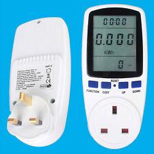 Medidor de consumo de energía eléctrica mide el uso de la Energía & Dispositivo de coste de funcionamiento