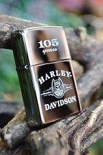Zippo Lighter -  Harley Davidson - 105th Anniversary - Black Ice - Model # 24397