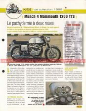 MÜNCH 1200 TTS Mammouth Mammut 1969 Joe Bar Team Fiche Moto #005514