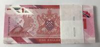 Trinidad & Tobago 1 Dollar 2020/2021 Polymer P NEW UNC LOT 100 pcs 1 Bundle