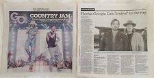 Florida Georgia Line Country Music newspaper clip article March 2017