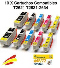 10 Cartuchos de tinta non oem para Epson Expression Premium XP605 XP610 XP615