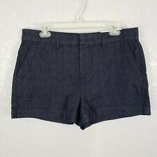 Ann Taylor LOFT womens sz 8 29 jean denim roll shorts dark rinse wash NWT