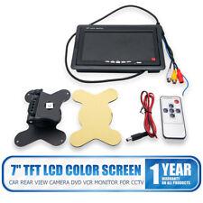 """7 """"TFT LCD Coche Posterior Ver Pantalla Monitor por Cámara de marcha atrás DVD"""