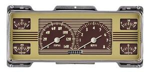 Classic Instruments 1940 Ford Deluxe FC40OE Series Finish Speedo Tach 6 Gauge