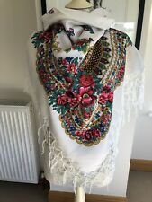Russian/Ukrainian Large Square Scarf/shawl