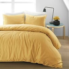 Home Linen Down Alternative Comforter 200 GSM Gold Solid Cal King Size