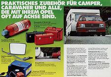Opel Zubehör für Camper Prospekt 9/77 brochure 1977 Auto PKW Deutschland Verkehr