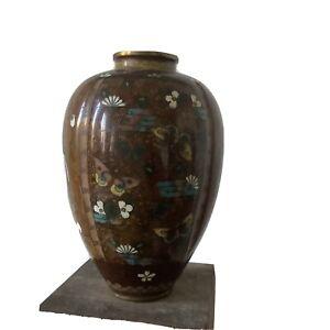 Beau Vase En Email Cloisonné Japon Chine XIXe Siecle