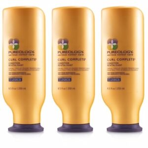 3 PACK PUREOLOGY SERIOUS COLOUR CARE CURL COMPLETE CONDITIONER 8.5 OZ CURLY HAIR
