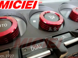 3xRed AC Climate Control Volume Knob Ring Trim Covers for FRS GT86 Subaru BRZ