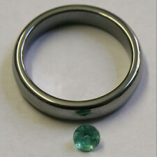 NATURAL LOOSE EMERALD GEMSTONE 4MM FACETED ROUND 0.36CT GEM EM24A