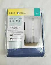 "JCP Home Vintage Blue Vivian Sheer One Tab-Top Curtain Panel, 50""x63"""
