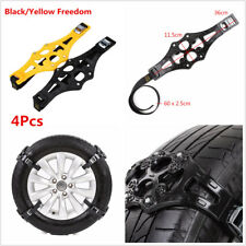 4Pcs Universal PTU Truck Car Tire Wheel Safety Anti-skid Snow Chain Belt Chains