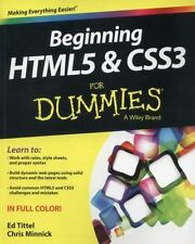 Beginning HTML5 and CSS3 For Dummies [Paperback] by Tittel, Ed and Minnick