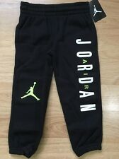 Jordan Pants Baby Toddler Size 4T Black Lime Green NEW!!
