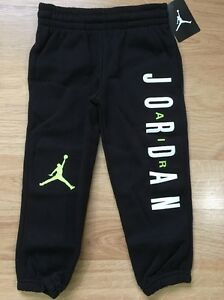 Jordan Pants Baby Toddler Size 4T Black Lime Green NEW!!