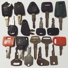 18 Construction Ignition Keys / Heavy Equipment Key Set CAT Komatsu JCB Kubota