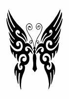 Flying Butterfly Tattoo style stencil, 350 micron Mylar not thin stuff  #TaT00