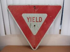 """Authentic YIELD Highway Street Traffic Road Sign Red White Triangle 27"""" x 24"""""""