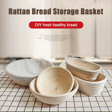 Rattan Weaved Bread Proofing Basket With Cloth Liner Non-stick Storage Basket