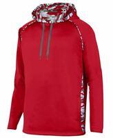 Augusta Sportswear Men's Mod Camo Hoodie, Red/Red Mod, Small