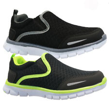 KIDS BOYS GIRLS SLIP ON WALKING SMART BREATHABLE MESH PUMP TRAINERS SHOES SIZE