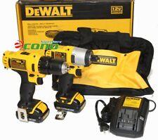 DeWalt 12V Drill & Impact Driver Kit DCK211S2 w/2 Lith-Ion Battery + 100pc Bits