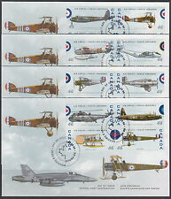 CANADA #1808a-1808p 46¢ CANADIAN AIR FORCES 1924-1999 FIRST DAY COVERS
